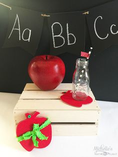 Apple Coasters for T
