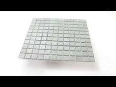Mosaic Tiles Glass Silver Glitter 25x25x4mm Mosaic Glass, Mosaic Tiles, Silver Glitter, Outdoor Blanket, Bathroom, Decor, Silver, Mosaic Pieces, Washroom