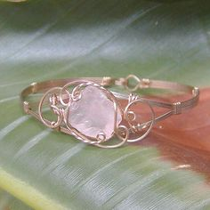 Pink Sea Glass Wire-Sculpted Bracelet by wiregems, via Flickr
