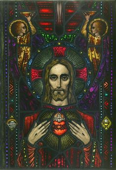 Apparition of the Sacred Heart | by Harry Clarke, Dublin, Ireland, 1918-1940. l Victoria and Albert Museum