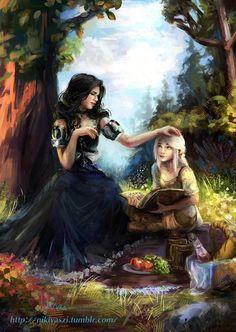 NikiVaszi,Цири,Witcher Персонажи,The Witcher,Ведьмак, Witcher, ,фэндомы,Йеннифер