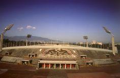 Estadio Olimpico Universitario. La imagen del mural del Estadio Olimpico Universitario creado por Diego Rivera | FOTOLOG/CIUDAD_DE_MEXICO