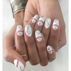 Current nail obsession: #marble #nails Source || Pinterest #nailart #beauty #makeup #YouCamNails