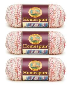 Look at this Parfait Homespun Yarn Skein - Set of Three on #zulily today!