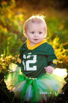 Green Gold Packer tutu -  not for me or my kids, but it made me think of a couple WI mommies I know!