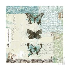 Bees n Butterflies No. 2 Giclee Print by Katie Pertiet at Art.com