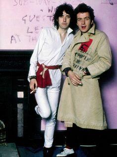 Mick Jones & Joe Strummer photographed by Sheila Rock, 1977.