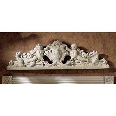 Architectural Angel Sculptural Wall Pediment