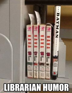 Librarian humor… this is quite honestly the funniest thing I have seen in a LONG time!