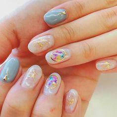 【100均ネイル】コスパ最高!100均で使えるネイルアイテムまとめ Love Nails, How To Do Nails, Pretty Nails, Fun Nails, Korea Nail Art, Self Nail, Korean Nails, Prom Accessories, Cute Acrylic Nails