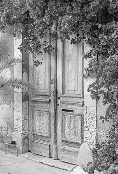Doorway charcoal rendering