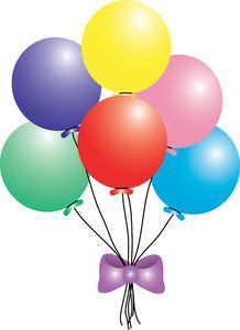 transparent party streamer and balloons png clipart picture rh pinterest com clipart balloon free clipart balloon free