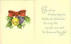 Merry Christmas Vintage Greeting Card by TheVintageGreeting, $4.75