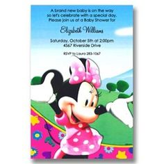 24 best disney baby shower invitations images on pinterest baby disney minnie clubhouse baby shower invitations filmwisefo