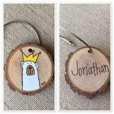 Personalized wire keychain custom wood keyring by MalamiStudio