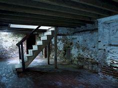 Edgar Allan Poe's Basement in  Philadelphia, Pennsylvania. I can hear the thumping through the photo.