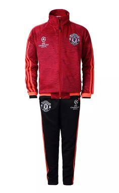 b65b418244aa6 veste football Champions League Survetement training de foot Manchester  United Enfant Rouge 2015 2016 Survetement Bayern