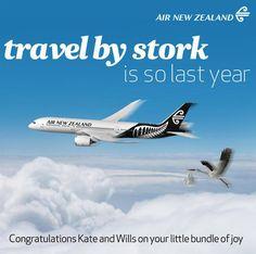 Air New Zealand - Royal Baby