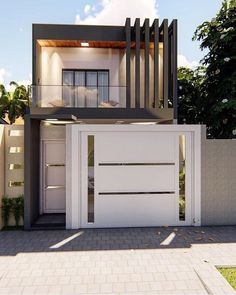 Small House Exteriors, Modern Exterior House Designs, Dream House Exterior, Exterior Design, House Fence Design, House Outside Design, Bungalow House Design, Modern Small House Design, Concrete Houses