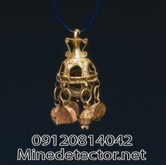 گوشواره یا آویز، جنس: طلا، اندازه:3.7 در 5.8 سانتی متر، قدمت: دوره ی اشکانی، محل نگهداری: موزه ی هنر کلیولند