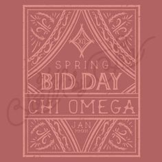 Sorority Recruitment Chi Omega Vintage Frame South By Sea
