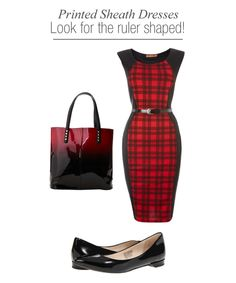 Printed sheath dress for Work - Work Wear Spring summer 2014 - Flattering to the sporty ruler (rectangle) body shape - Plaid dress
