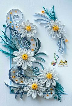 Neli is a talented quilling artist from Bulgaria. Her unique quilling cards bring joy to people around the world. Arte Quilling, Paper Quilling Flowers, Paper Quilling Cards, Quilling Work, Paper Quilling Patterns, Origami And Quilling, Quilled Paper Art, Quilling Paper Craft, Paper Crafts