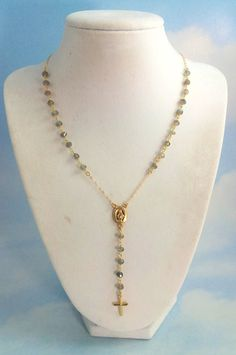 Labradorite Rosary Necklace Womens by divinitycollection on Etsy, $90.00