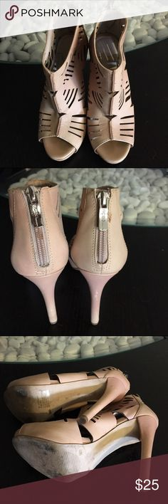 """BCBGeneration Booties High heels booties. About 4"""" (0.5"""" front platform). Zipper at the back. Open toe. No box. Worn 2 times only. No trades. BCBGeneration Shoes Ankle Boots & Booties"""
