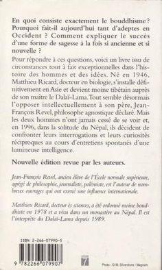 Amazon.fr - Le moine et le philosophe - Un père et son fils débattent du sens de la vie - Jean-François Revel, Matthieu Ricard - Livres