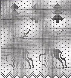 Олени, лоси и елочки. Схемы. – 148 фотографий