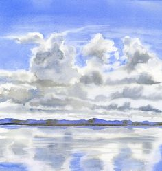 cloudy-sky-with-reflections by  sharon-freeman