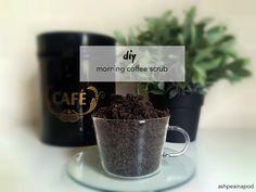 diy homemade coffee grind or ground coffee sugar scrub ashpeainapod.com