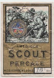 Percale vintage boy scout trade card