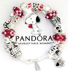 Authentic PANDORA Silver Charm Bracelet European Charms Red White Snoopy Dog New | Jewelry & Watches, Fashion Jewelry, Charms & Charm Bracelets | eBay!