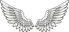 Hand-painted angel wings PNG and Clipart Angel Wings Clip Art, Angel Wings Png, Angel Wings Drawing, Bird Wings, Angel Art, Justin Bieber Wings Tattoo, Tattoo Justin, Wing Neck Tattoo, Chest Tattoo