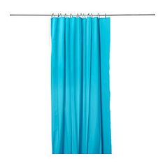 "EGGEGRUND shower curtain, turquoise Length: 71 "" Width: 71 "" Length: 180 cm Width: 180 cm"