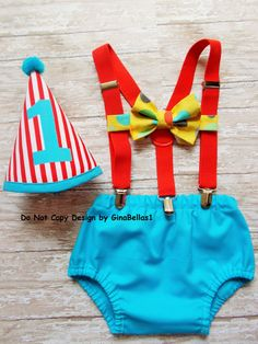 Circus Birthday cake smash carnival Party theme by GinaBellas1