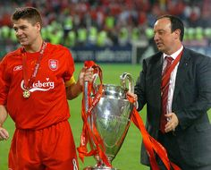 PIC BY COLIN LANE ISTANBUL, TURKEY - WEDNESDAY, MAY 25th, 2005: the UEFA Champions League Final at the Ataturk Olympic Stadium, Istanbul. (Pic by Colin Lane) #Champions
