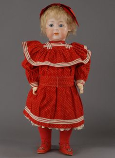 """Armand Marseille (1856-1925) — 23'' German  Bisque Child Doll  """"Fany""""     (745×1024)"""