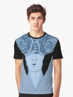 Botanical Boy  Graphic T-Shirt - buy prints, iphone cases, and a lot more on redbubble.    #illustration #redbubble #floral #roses #blue #graphic #originaldesign #madeinitaly #illustrator