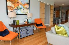 In love with this mid-century contemporary fun.