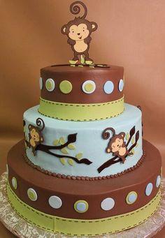 Monkey Baby Shower Cake Decoration Ideas