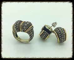 Handmade Knot Silver Gold  Ring & Earrings Set, Love Inspired  | eBay