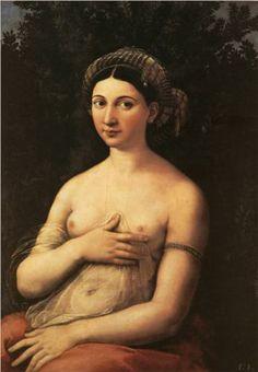 Raphael - La fornarina (The Portrait of a Young Woman) [1520]