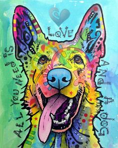 Love And A Dog ORIGINAL Art