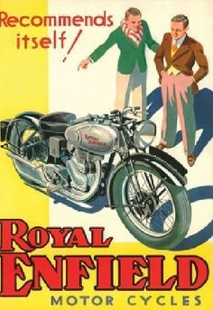 Items similar to Silver Bullet, Royal Enfield, Motorcycle, Advertising, Print on Etsy Posters Vintage, Vintage Advertising Posters, Vintage Advertisements, Vintage Ads, Vintage Stuff, Enfield Motorcycle, Bike Poster, Motorcycle Posters, Motorcycle Art