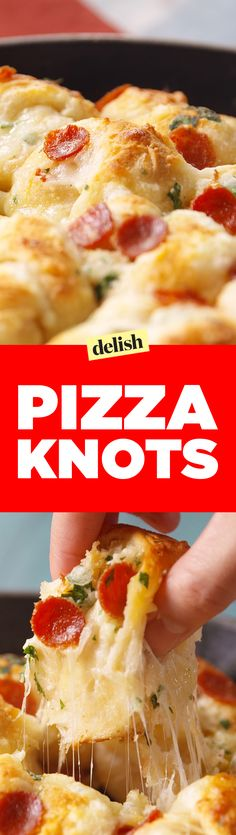Pizza Knots are the party app your friends will never stop talking about. Get the recipe on Delish.com.