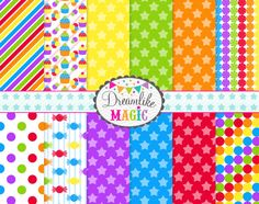 Little Star Sweet Shop Digital Paper Pack for by DreamlikeMagic. , via Etsy.