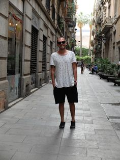 Enjoying Barcelona and its treasures! My smile says everything :)  T-Shirt: These Glory Days Sneakers: Nike Orbit   Shorts: Cheap Monday Watch: Georg Jensen  Sunglasses: Persol
